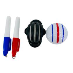 Två Pennmarkeringsformar Tre-linjers Putter golfboll-ingen Boll Fotofärg