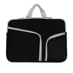 Laptopväska Macbook Air 13.3-tum - Dragkedja svart Svart