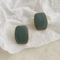 Örhänge: retro-droppe (Smaragdgrön) Smaragdgrön