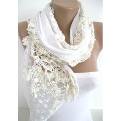 Elegant Sjal /scarves Vit