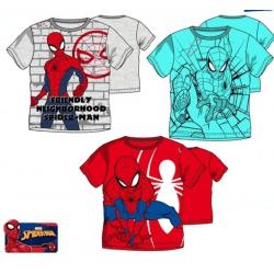 Spiderman -  Kortärmade T-Shirt Red Röd 8År -128cm