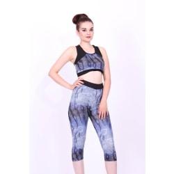 Sport set -leggings -Bustier BH tränings set-tränings tights multifärg L