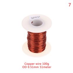 0,13 mm till 1,25 mm koppartråd Magnettråd emaljerad lindningstråd C 7(OD 0.51MM)
