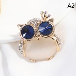 1 st blå ögon broscher för kvinnor söta djur brosch pin tyg A2