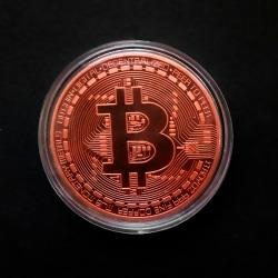1st kreativ souvenir guldpläterad bitcoin mynt samlarobjekt Copper