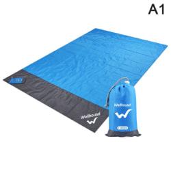 2m * 1,4m vattentät strandfilt utomhus bärbar picknickmatta kamera A1