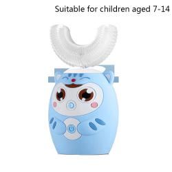 360 graders smart automatisk sonisk u-form tandborste Blue Cat Children