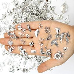 50g diy metallpärlor charms hänge armband halsband tillbehör Silver