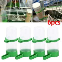 6pc Bird Water Drinker Feeder Automatisk dricksfontän Pet Dr 6pcs
