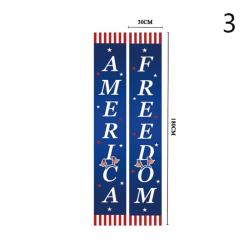 amerikansk självständighetsdagen kopplingsdörr hängande banner heminredning