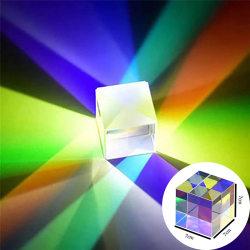 Cube Prism Målat glasstråle Splitting Prism Optical Experiment One size