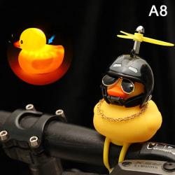 liten gul cykel anka cykel klocka lysande cykel vindmotor 8