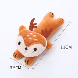 tandslipning kattmynta leksak rolig interaktiv plysch kattleksak husdjur ki Brown