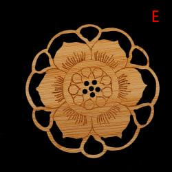 näckros lotus dryck underlägg trä rund mugg placemat kit E