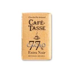Kafé-Tasse Mini chokladkaka, mörk choklad 77 %, 9 g (80 st) Brun