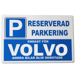 Metall plåtskylt med ' Volvo ' design - 30x20 cm skylt