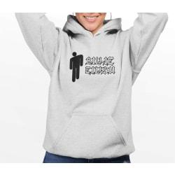 Billie Eilish grå huvtröja sweatshirt tröja t-shirt logo 152cl 12-13år