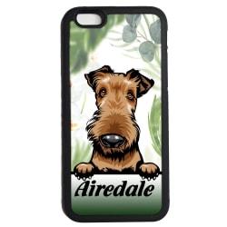 Airedale iPhone 7 / 8 & SE 2nd gen'  skal Kikande hund gummiskal