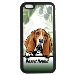 Basset Hound iPhone 6 6s skal Kikande hund gummiskal
