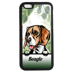 Beagle iPhone 7 / 8 & SE 2nd gen'  skal Kikande hund gummiskal