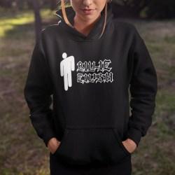 Billie Eilish huvtröja Svart Barn hoodie t-shirt LOGO 140cl 9-11år