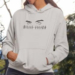 Billie Eilish ögon barn Hoodie huvtröja t-shirt  152cl 12-13år