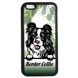 Border collie iPhone 6 6s skal Kikande hund gummiskal