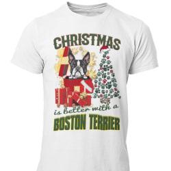 Boston Terrier Jul  hund  schäfer t-shirt  White L
