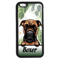 Boxer iPhone 6 6s skal Kikande hund gummiskal