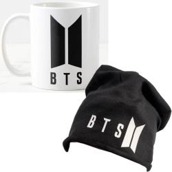 BTS beanie mössa hat & mugg paket BTS Army -