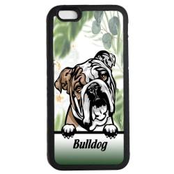 Bulldog iPhone 6 6s skal Kikande hund gummiskal