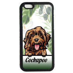 Cockapoo iPhone 7 / 8 & SE 2nd gen'  skal Kikande hund gummiskal