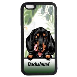 Dachshund iPhone 7 / 8 & SE skal Kikande Dax hund gummiskal