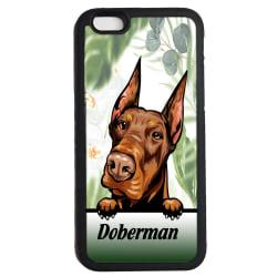 Doberman iPhone 7 8 & SE skal Kikande hund gummiskal