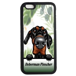Doberman pinscher iPhone7 / 8 & SE skal Kikande hund gummiskal