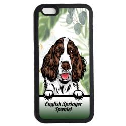 English Springer Spaniel iPhone 6 6s skal Kikande hund gummiskal