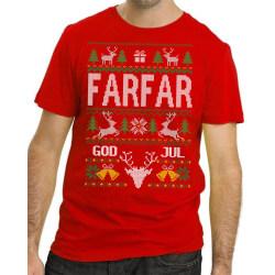 Farfar Jul T-shirt - Christmas jumper stil jultröja L