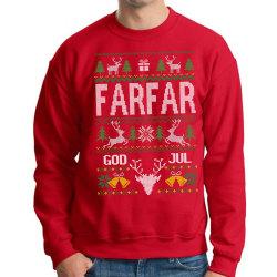 Farfar Jultröja - Christmas jumper stil röd sweatshirt M