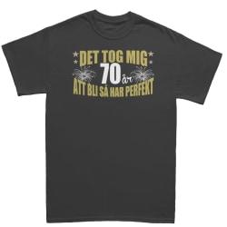 Födelsedag T-shirt - Det tog 70 år att bli perfekt XL