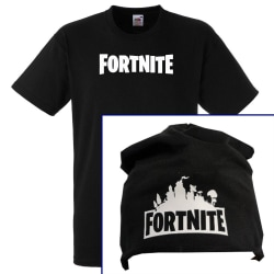 Fortnite barn text t-shirt & mössa paket  128