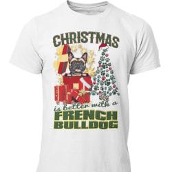 French Bulldog Jul  hund  t-shirt  White XXXL