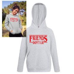 Friends don't lie barn Hoodie huvtröja t-shirt Stranger things 152cl 12-13år