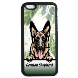 German Shepherd - Schäfer  iPhone 6 6s skal hund gummiskal