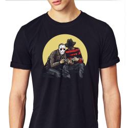 Jason v Freddie Gamers T-shirt L