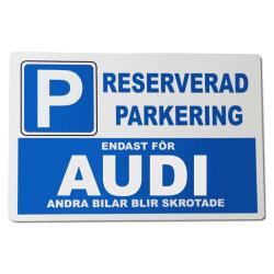 Metall plåtskylt med ' Audi ' design - 30x20 cm skylt