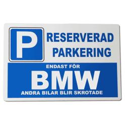 Metall plåtskylt med ' BMW ' design - 30x20 cm skylt