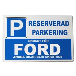 Metall plåtskylt med ' Ford ' design - 30x20 cm skylt