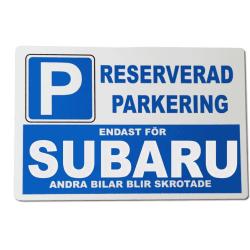 Metall plåtskylt med ' Subaru ' design - 30x20 cm skylt
