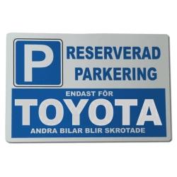 Metall plåtskylt med ' Toyota ' design - 30x20 cm skylt