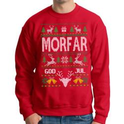Morfar Jultröja - Christmas jumper stil röd sweatshirt XXL